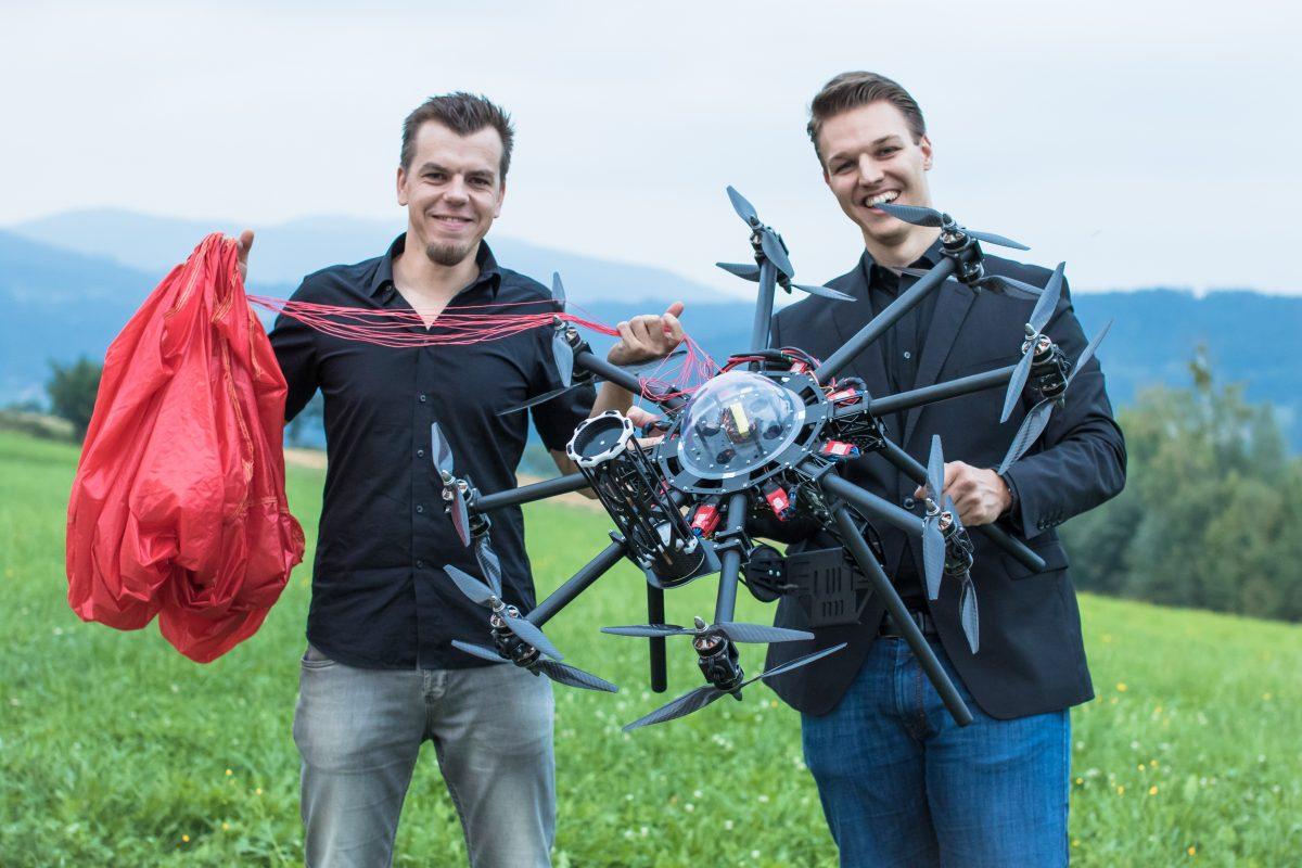 Markus Manninger und Andreas Ploier von Drone Rescue Systems