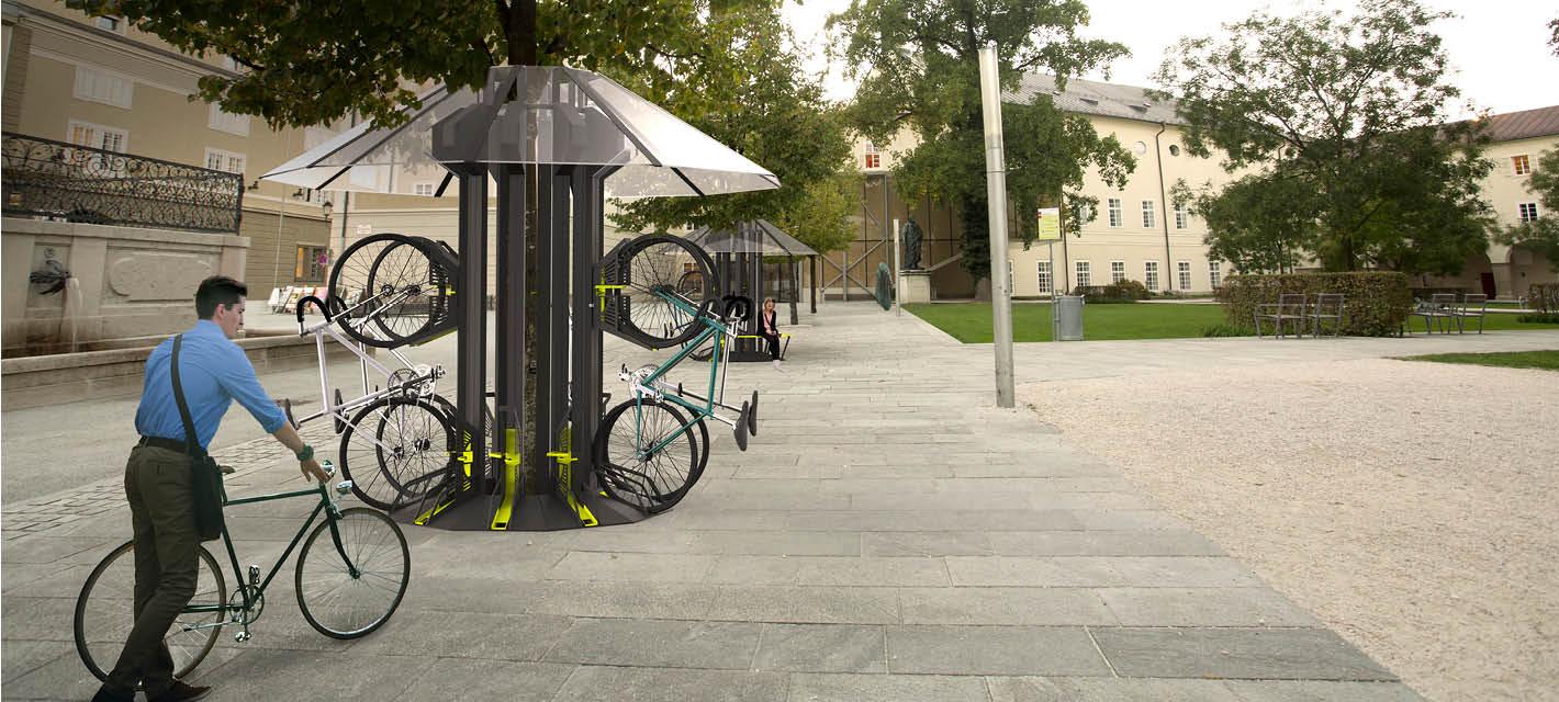 Bikeparker – platzsparend, modular, sicher Startup Salzburg